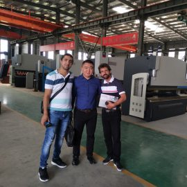 England Customers Visit Factories And Buy Press Brake Machines